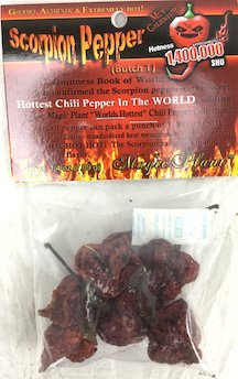 0.25 Ounce Pods (Dried Trinidad Moruga Scorpion Pepper Pods, 0.25 Ounce)
