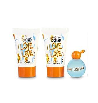 8e891bf74bb Moschino I Love Love 3 Pieces Mini Gift Set for Women: Amazon.ae