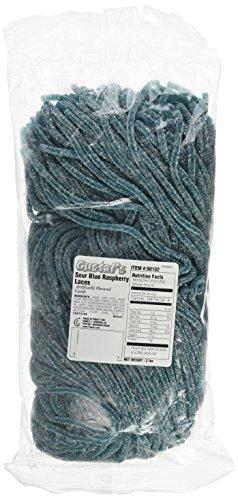 (Gustaf's Sour Blue Raspberry Licorice Laces - 2 Lb. Bag)