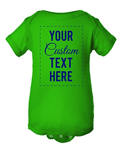 InkThread Personalized Baby Onesie Bodysuit Customize 4 Lines of Text, 15 Designer Fonts, 13 Ink Colors