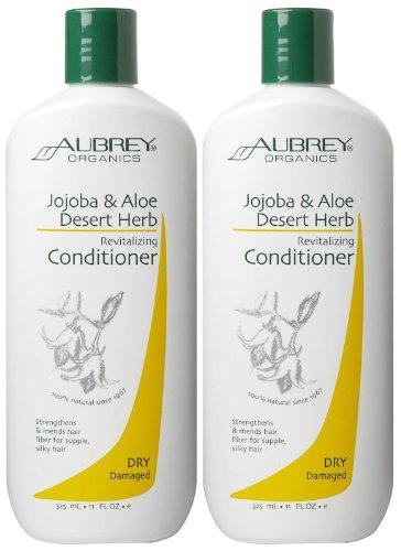 Aubrey Organics Herb Revitalizing Conditioner - Jojoba & Aloe Desert - 11 oz - 2 pk