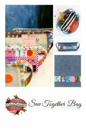 Sew Together Bag Pattern,white,8.5'' x 5.5'' by SewDemented