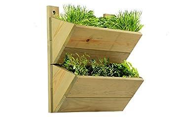 macetero de pisos estante de madera premium para colgar macetas invernadero colgante de
