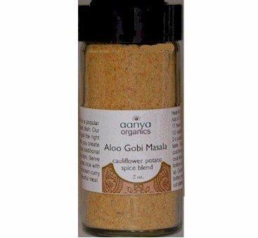 Ajika Organic Gobi Aloo Spice Blend - Indian Seasoning for Cauliflower and Potato, 2-Ounce