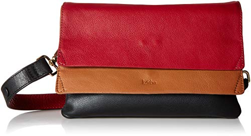 - Kooba Handbags Hamilton Medium Flap Shoulder Bag,  Scarlet Multi, One Size