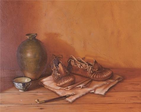 Oil Painting 'Still Life With Shoes And Pot', 8 x 10 inch / 20 x 26 cm , on High Definition HD canvas prints is for Gifts And Game Room, - T Zion Sunglasses