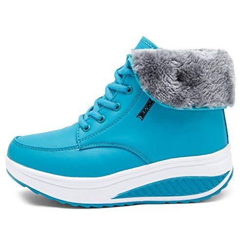 Zxcvb Winter Plus Velvet Female Rocking Rocking Rocking Schuhe hoch zu helfen, Dicke untere Keil Freizeitschuhe be452c