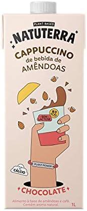 Cappuccino de Bebida de Amêndoas sabor chocolate Natuterra 1L