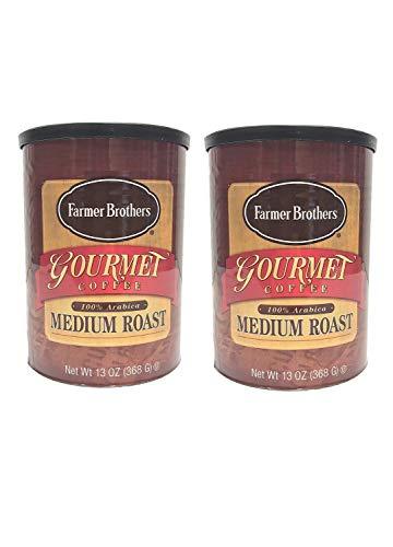 Farmer Brothers Gourmet 100% Arabica Medium Roast Ground Coffee 13 Ounce 2 Cans