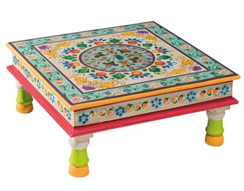 Small Indian Bajot Hand Painted Table