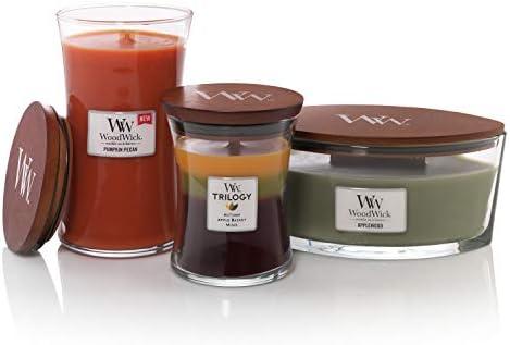 Woodwick Bougie parfum/ée en Forme dellipse au Lait dor/ée