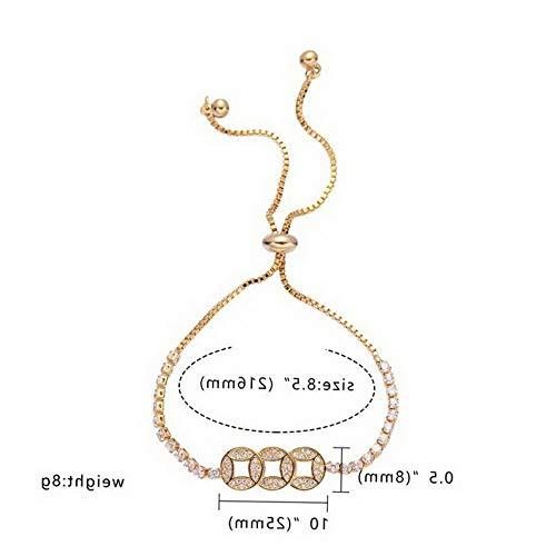Florance jones Fashion Shiny Adjustable Crystal Zircon Bracelets Women Charm Jewelry Wedding | Model BRCLT - 44130 | ()