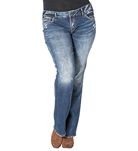 Silver Jeans Co. Elyse Mid Boot Dark Wash 20 x 31 by Silver Jeans Co.