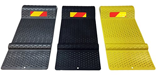Electriduct Pair of Plastic Park Right Parking Mat Guides for Garage Vehicles, Antiskid Car Safety - Gray by Electriduct (Image #3)