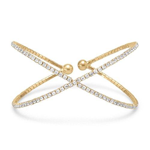 Crown Jewelry Gold Tone Criss Cross