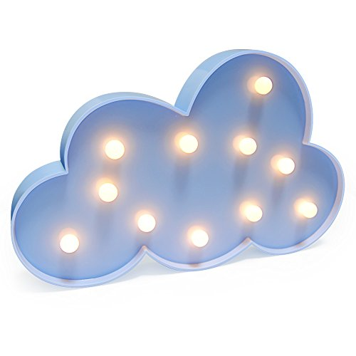KiBlue Night Light Lamp Battery Operated Table Lamp Light for Party Supplies-Wall Decoration for Kids' Room,Living Room,Bedroom