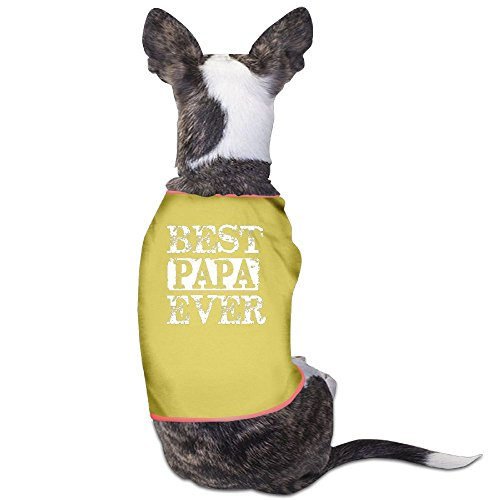 Best Papa Bear Plain WarmDog T Shirt Dress Plain Sleeveless Anxiety Calming Wrap Best Holiday Gift S Yellow