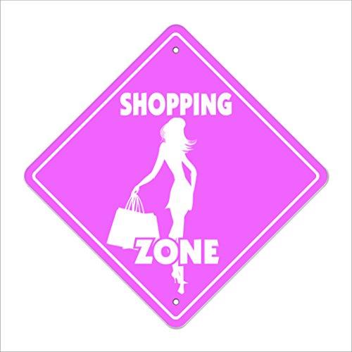 Shopping Crossing Sign Zone Xing | Indoor/Outdoor | 12