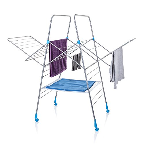 minky Multi Dryer Drying Rack, 78', Silver (Clothes Dryer Rack)