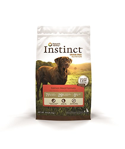 Instinct Original Grain Free Salmon Meal Formula Natural Dry Dog Food By Nature'S Variety, 4.4 Lb. Bag
