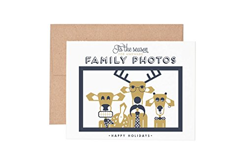 Holiday Awkward Family Photos Letterpress Greeting -