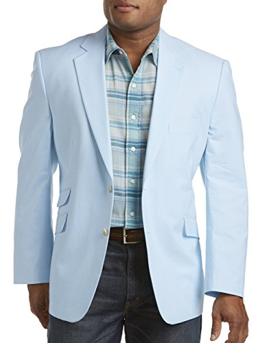 Oak Hill by DXL Big and Tall Continuous Comfort Chambray Sport Coat