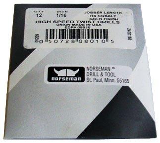 (12 Pk) - 13/64 High Speed Norseman Drill Bits