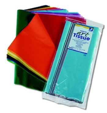 "Pacon Spectra Assorted Color Tissue Pack, 12"" x 18"", 25 Colo"