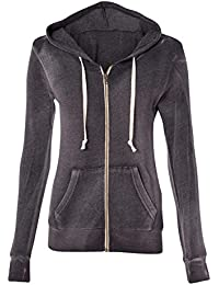 Women's Crystal Sporty Soft Hoody Zip Sweater