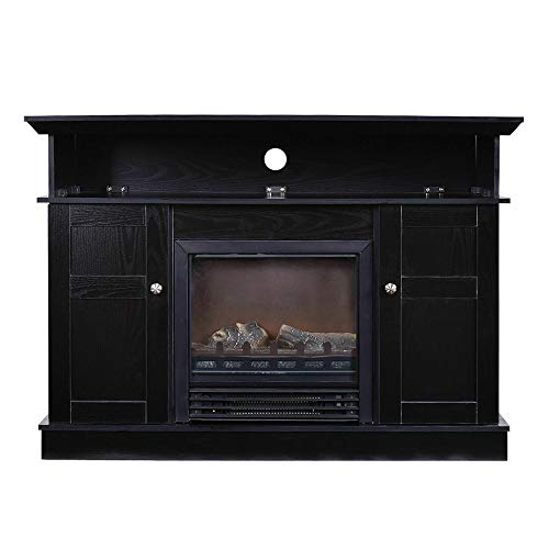 Cheap Thaweesuk Shop Fireplace TV Stand Wood Storage Media Console Electric Heater for TVS up to 50