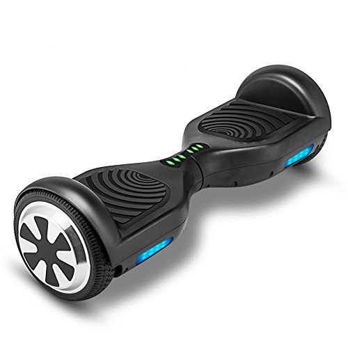 VEEKO Self Balancing Scooter Black Hoverboard with LED Indicator Lights, 350W Dual Motor, UL 2272/2271 Certificate, Alloy Durable - Monster.co.ul