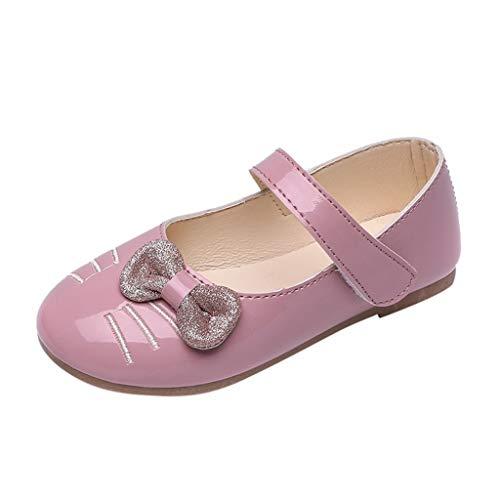 - Shusuen Infant Baby Girls Soft Sole Prewalker Crib Mary Jane Shoes Princess Light Shoes Pink