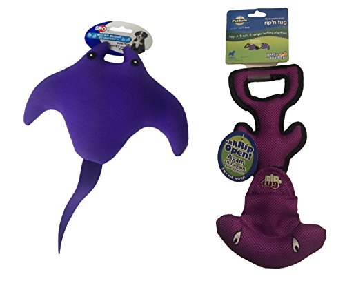ethical-pet-products-spot-water-buddy-stingray-and-petsafe-rip-n-tug-hammer-head-dog-toys