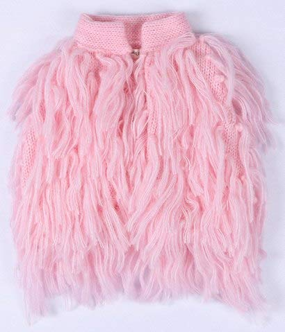 fumak Infant Girl Tassel Sweater Cardigan Kids Baby Girl Knitted Jumper Wear Sueter Infantil Toddler Coat Outerwear for Spring Autumn (12M, Pink)