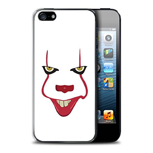STUFF4 Phone Case/Cover for Apple iPhone 5/5S / Pennywise Face Art Design/Horror Film Inspired Collection]()
