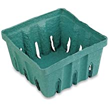 "Berry Baskets   10ct (4""x4""x1.75""), Green"