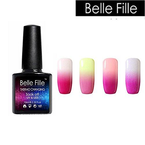 Belle Fille Thermal Temperature Gel Nail Polish Temperature