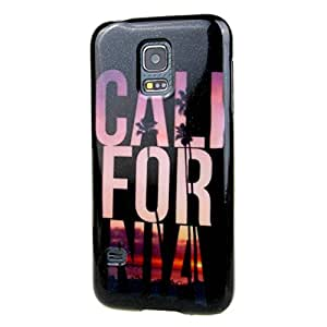 Para Galaxy S5 mini , ivencase Coco árbol and Beach Patrón Flexible Textura [Suave TPU Gel] Slim Bling Gel Protector Trasero Perfecto Fit Funda Carcasa Tapa Case Cover Para Samsung Galaxy S5 mini / SM-G800