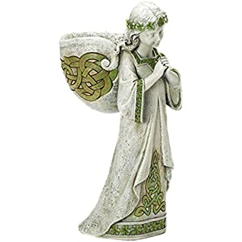 Roman Josephs Studio Praying Irish Angel Religious Outdoor Garden Planter  Statue, 15.25 Inch