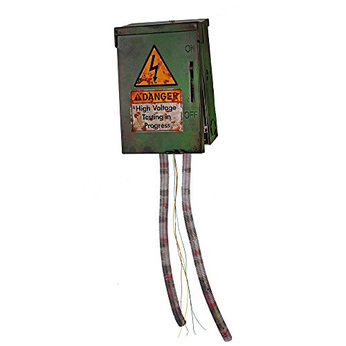 High Voltage Junction Box with Led-Illuminated Jumping Frayed Live Wires and Sizzling Sound Effects,An Electrifying Prop to Complete You Spooky Halloween Party Decoration High Voltage Junction Box