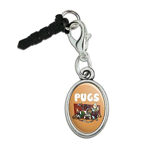 Wizard Large Ovals - GRAPHICS & MORE Pugs Games RPG Pickup Groups LFG Rogue Wizard Warrior Ranger 2 Mobile Cell Phone Headphone Jack Anti-Dust Oval Charm fits iPhone iPod Galaxy