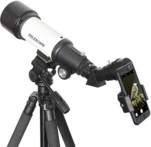 """Gosky 1.25"""" Telescope Phone Adapter - 2019 Newest Updated Quick Aligned Smartphoto Adapter Mount for Refractor & Reflector Telescope with Built-in 1.5X Barlow Lens"""