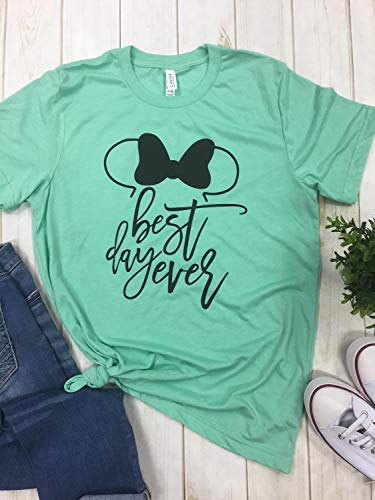 Disney Best Day ever Shirt top tee t-shirt mickey ears family vacation matching