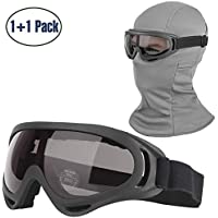 COOLOO Balaclava & Ski Goggles Sets ( 1 mask + 1 Black goggle)