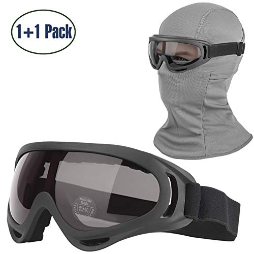 COOLOO Balaclava & Ski Goggles Sets, Ultralight...
