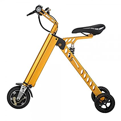 Hoverheart 10 Inch Foldable Three Wheel Electric Scooter Bike For Travel And Leisure Activities