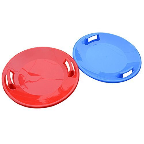 Dish Disk Snowfall Sledge - Plastic Snow Steerable Sled Plate Freestyle Skiing Sand Board Kid Dish - Disc Platter Sleigh Antenna Magnetic Discu Record Cocain Saucer Coke - 1PCs