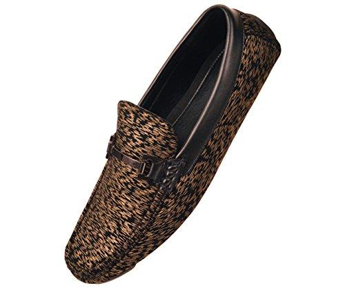 Rebajar Amali Mens Dos Tonos Metálicos Rayas Zapato De Vestir De Estilo Mocasín De Conducción Tifton Oro / Negro Compre barato Visite Nuevo Precio barato confiable KiVMYh8pC