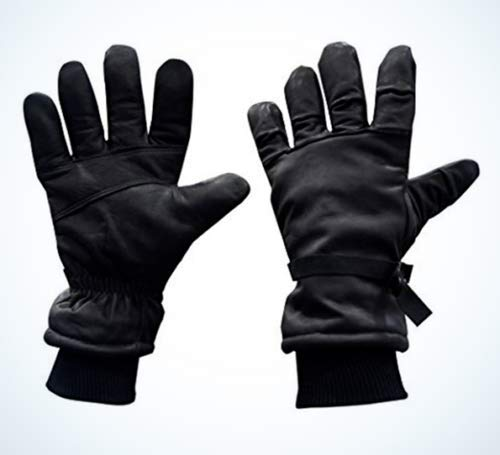 Leather Gloves, Black. Us Army Issued. Int. Cold-wet Weather Brand New