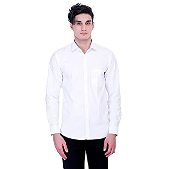 9813481ca6eb Men s Junction White Semi Formal Shirt  Amazon.in  Clothing   Accessories